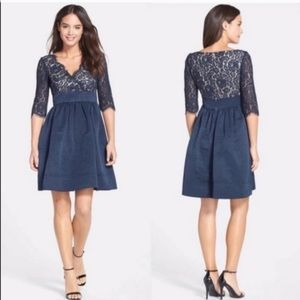 Eliza J Navy Lace Cocktail Dress Evening Gown